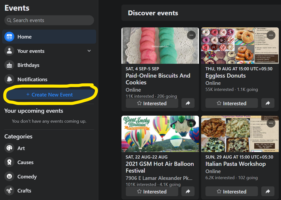 Create - How to Invite All Friends to Facebook Event