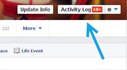 activity log -How to Untag Yourself on Facebook
