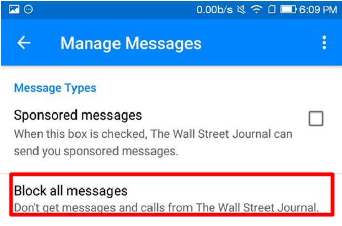 manage msg - How to Block Bots on Facebook Messenger