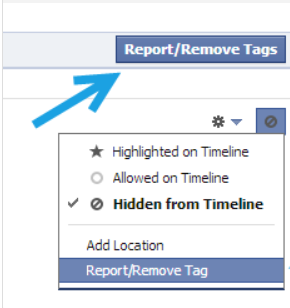 remove tag -How to Untag Yourself on Facebook