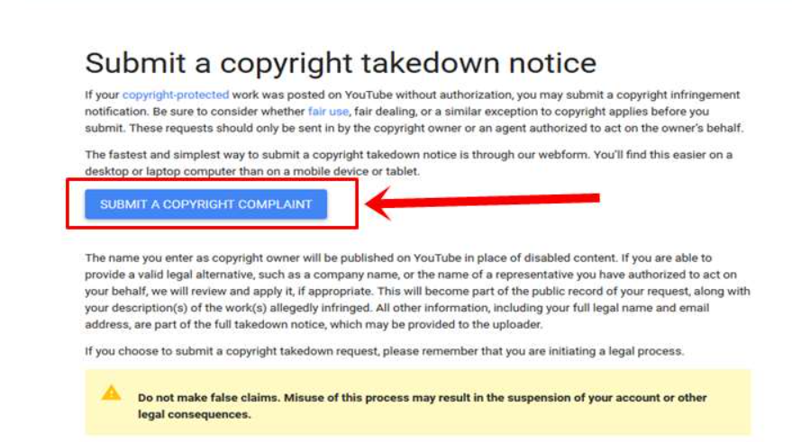 submit copyright - How to Report a Copyright Complaint in YouTube