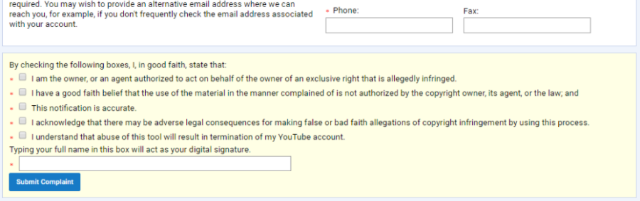 submitt - How to Report a Copyright Complaint in YouTube
